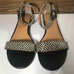 J crew low heel sandal